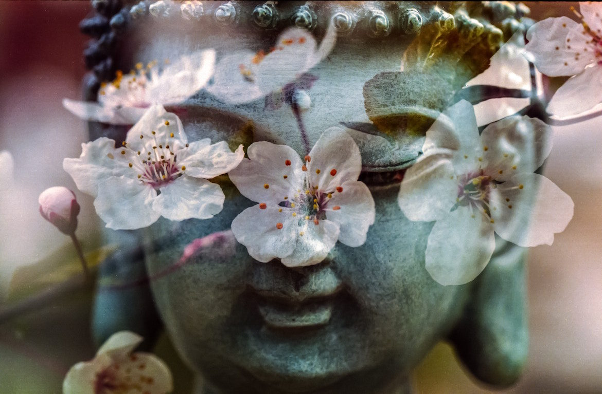 exotic-statue-flowers