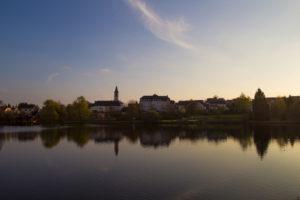 sunset-mirroring-church