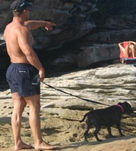 man-dog-clovelly-beach