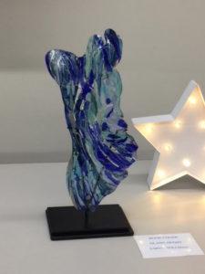 The Rock glass sculpture
